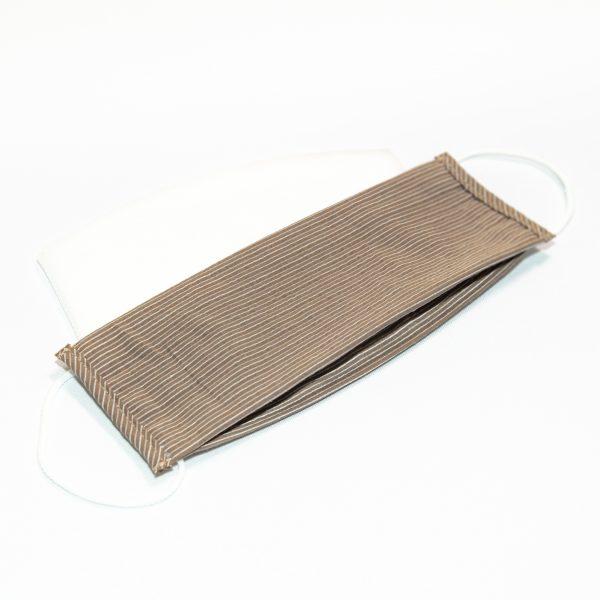 Mondkapje bruin met witte streep + 10 filters