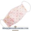 mondkapje roze met bloemen en stippen