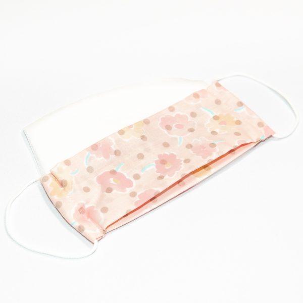 Mondkapje roze met bloemen en stippen + 10 filters