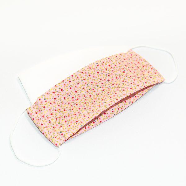 Mondkapje roze met bloemetjes + 10 filters