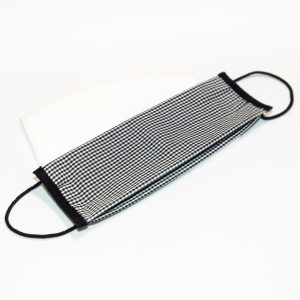 Mondkapje zwart geruit + 10 filters