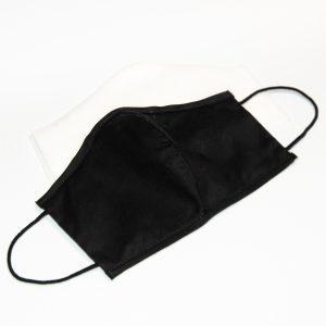 Mondkapje zwart (gezichtsvorm) + 10 filters