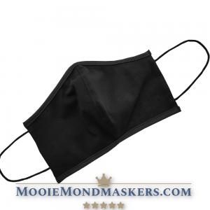 mondkapje zwart met vorm